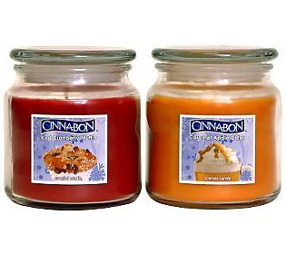Set of 2 Holiday Cinnabon Candles by Valerie