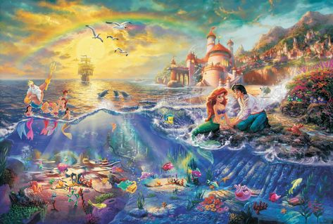 The Little Mermaid - Limited Edition Canvas (SN - Standard Numbered) - SN - Standard Numbered / 18 x 27 / Unframed