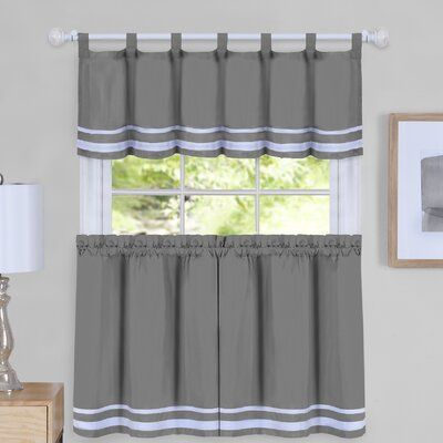 August Grove Hornell Window Curtain Tier Pair And Valance Set