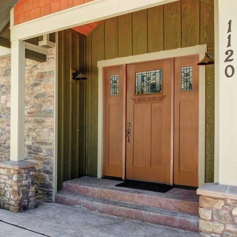 Masonite Entry Door Fiberglass Belleville Entry Door In Craftsman Style Home Exterior Doors Door Weather Stripping Door Sweep