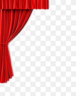 Theater Stage Red Curtain Background With Triple Bright Spotlight Stage Curtains Red Curtains Curtains Vector