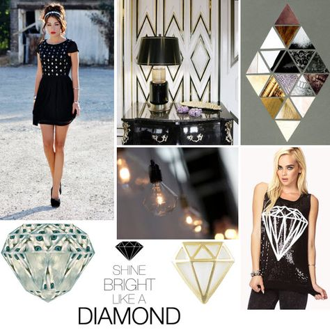 Mood Board Shine Bright Like a Diamond