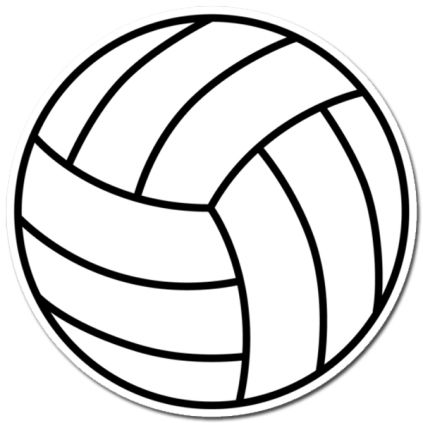 Volleyball Image Sticker Image Stickers Volleyball Images Volleyball Designs