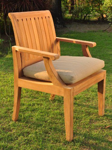 Wholesaleteak Grade A Teak Wood Luxurious Arm Captain Dining Chair Model Lagos Whdca Modern Outdoor Furniture Teak Patio Furniture Backyard Patio Furniture