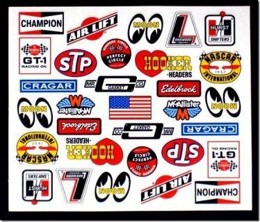 Mca 518 Vintage Racing Contingency Decal Sheet Decal Sheets Racing Stickers Vintage Racing