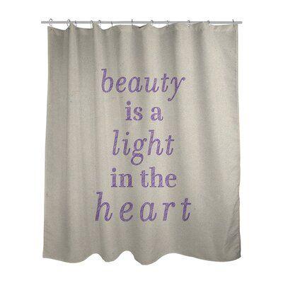 East Urban Home Handwritten Beauty Inspirational Quote Shower