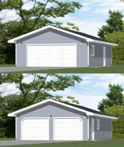 24x36 2 Car Garage 24x36g6a 864 Sq Ft Excellent Floor Plans Floor Plans Garage Plans House Plans