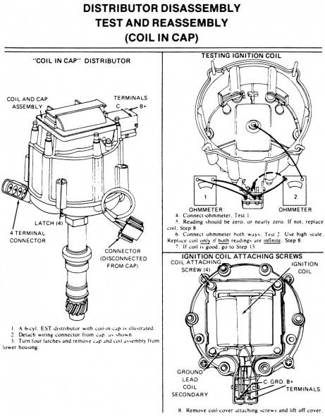 chevrolet hei distributor wiring diagram | bilar  pinterest