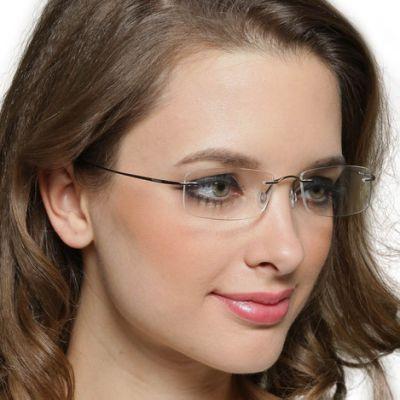 Ladies Rimless Glasses Louisiana Titanium Glasses Womens