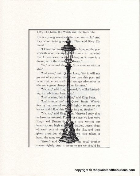 Just bought this for Lucy's nursery. - Narnia The Lion Witch and The Wardrobe Lamp printed over a