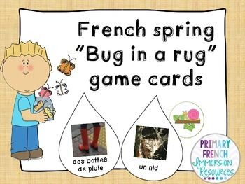 """French spring """"bug in a rug"""" game - le printemps"""