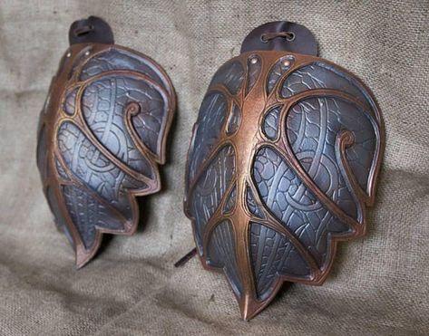 Elven shoulder armor LARP Knight Fantasy LOTR pauldrons