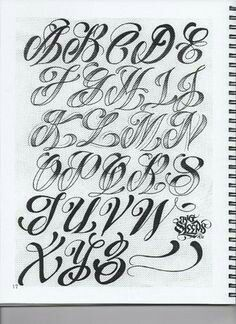 Cursive Fonts Alphabet Calligraphy Modern Lettering Art Tattoo Styles Drawing Tattoos Awesome