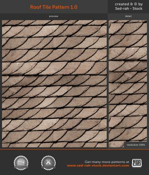 Roof Tile Pattern 1 0 By Sed Rah Stock Tile Patterns Roof Tiles Fairy House