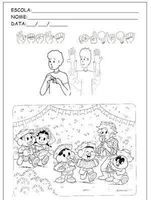 Amanda Duda Pedagogia E Libras Desenhos Para Colorir Festa