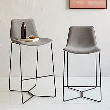 Elegant Modern Grey Bar Stools