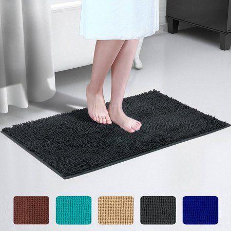 2 Piece Reversible Bath Rug Set Shower Carpet Mat Bathroom Floor Tub Rugs Cotton