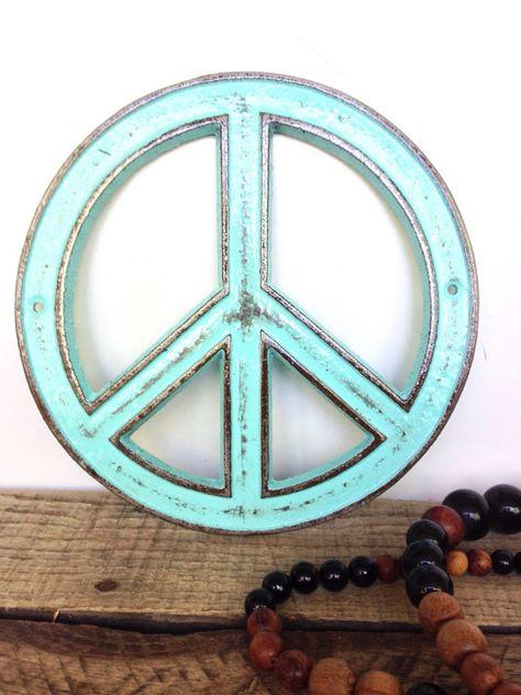 Custom Peace Sign Bohemian Decor Hippie by ShineBoxPrimitives