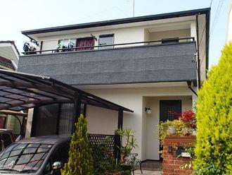 外壁塗装 ツートン ツートンカラー ブラック ホワイト ブルー ベランダツートン 家 外観 外壁塗装 ベランダ