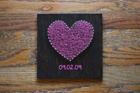 Valentine's Day Heart String Art - $35.00, via Etsy.