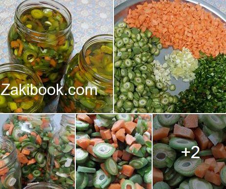 البسبوسة بالقشطة بأسهل وأبسط طريقة زاكي Pickles Kitchen Recipes Vegetables