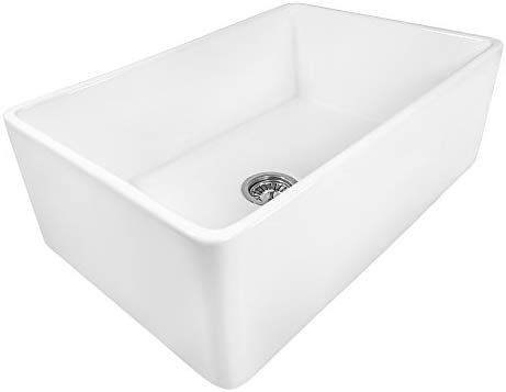 Ruvati 30 X 20 Inch Fireclay Reversible Farmhouse Apron Front Kitchen Sink Single Bowl White Rvl2100wh Farmhouse Sink Kitchen Drop In Kitchen Sink Sink