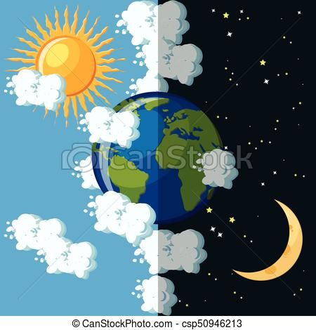 https comps canstockphoto fr terre plan c3 a8te concept jour nuit clipart vectoris a9 csp5094 earth day and night geography for kids planet coloring pages diamant vektor adobe illustrator vektorgrafik erstellen