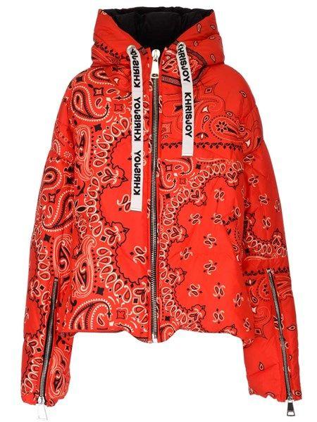 Khrisjoy Bandana Pattern Khris Puffer Jacket Khrisjoy Cloth Jackets Puffer Jackets Paisley Print