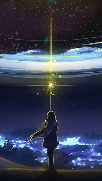 Anime Night Sky Scenery 4k 3840x2160 Wallpaper Night Sky