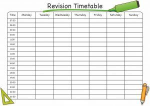 School Time Table Template For Revision In 2020 Revision Timetable Timetable Template Revision Timetable Template