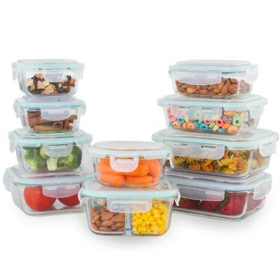 Kinetic Glassworks Oven Safe 11 Container Food Storage Set