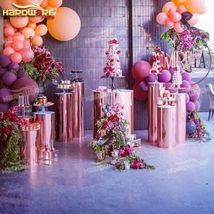 Source Golden Stainless Steel Or Acrylic Wedding Party Decoration Flower Display Pillar On M Alibaba C Wedding Party Decorations Flower Display Wedding Pillars