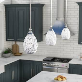 House Of Hampton Mcewen 1 Light Single Teardrop Pendant Reviews Wayfair Kitchen Pendant Lighting Crystal Pendant Lighting Kitchen Island Pendants