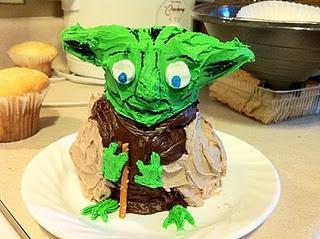 Yoda Cake Made From Mini Bear Wilton Cake Pan Cooking And Baking