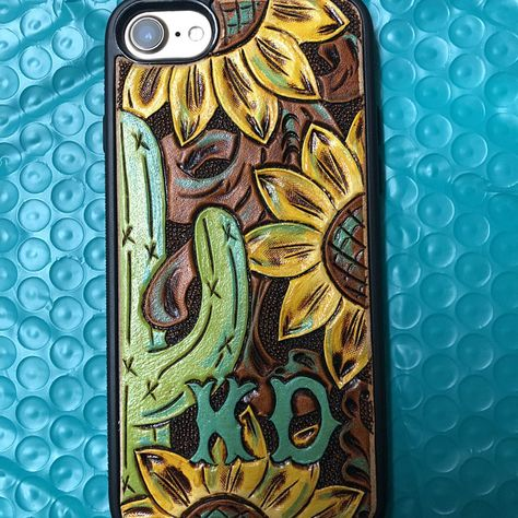 Made to order** Custom cowhide shabby chic white piano bench Leather Art, Saddle Leather, Yellow Leather, Custom Leather, Tooled Leather, Iphone 5c, Country Iphone Cases, Leather Tooling Patterns, Cowgirl Fashion