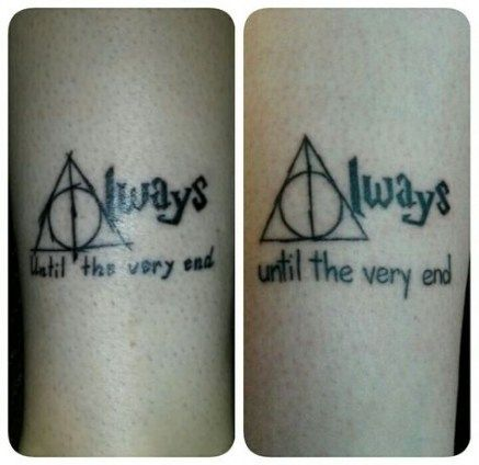 Trendy Tattoo Sister Quotes Harry Potter Ideas Tattoo Quotes Matching Harry Potter Tattoos Harry Potter Couples Matching Tattoos