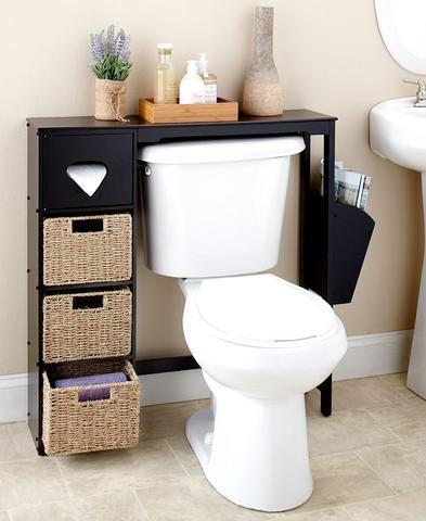 Bathroom Space Saver Over The Toilet 3 Shelves Tissue Box White