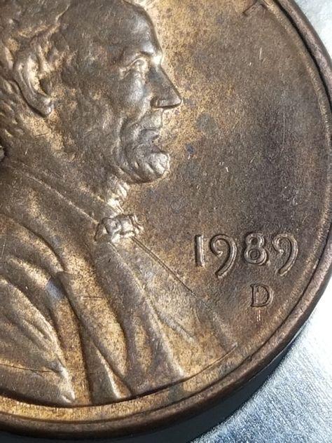 error #errorcoins 1985 Lincoln cent struck on unplated zinc planchet