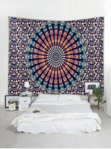 Wall Hanging Art Mandala Flower Print Tapestry Tapestry Wall Art Hanging Wall Decor Printed Tapestries