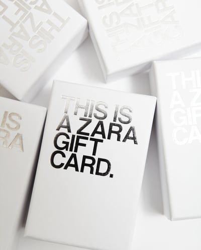 Image 1 Of Gift Card From Zara Zara Gifts Gift Card Balance