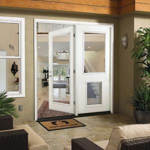 aab6b0c5ef7 Steves   Sons 72 in. x 80 in. White Prehung Primed Right-Hand Fiberglass  Inswing Center-Hinged Patio Door FGCHP FLSP PR R72 4IRH at The Home Depot -  Mobile