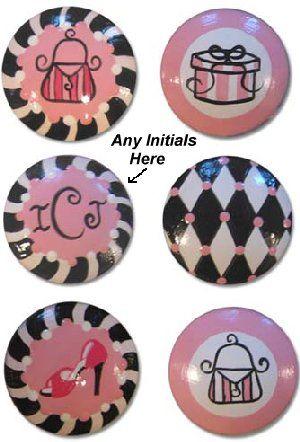Pink Paris Mix Customizable Drawer Knobs