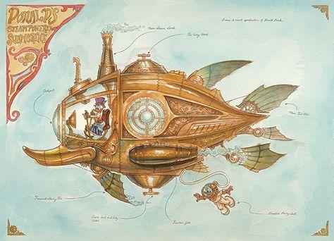Steampunk Tendencies | Donalds-Steam-Powered-Submarine-Blog-mechanical-kingdoms