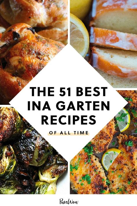 Are you a fan of the Barefoot Contessa? Check out 51 of the best Ina Garten recipes of all time Barefoot Contessa, Most Popular Recipes, Favorite Recipes, Best Ina Garten Recipes, Ina Garten Chicken, Chefs, Food Network Recipes, Cooking Recipes, Cooking Tips
