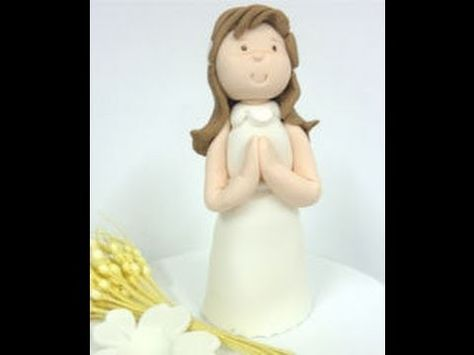 How to make fondant figures.Modelling a doll with edible sugar paste
