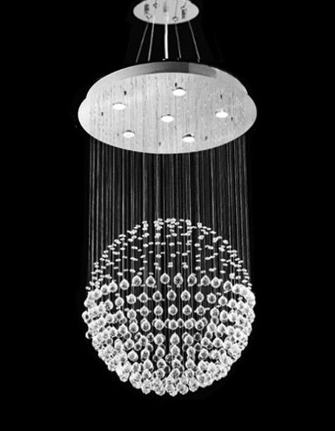 Luminaire Suspendu Ball Crystal Pendant Chandelier Modern
