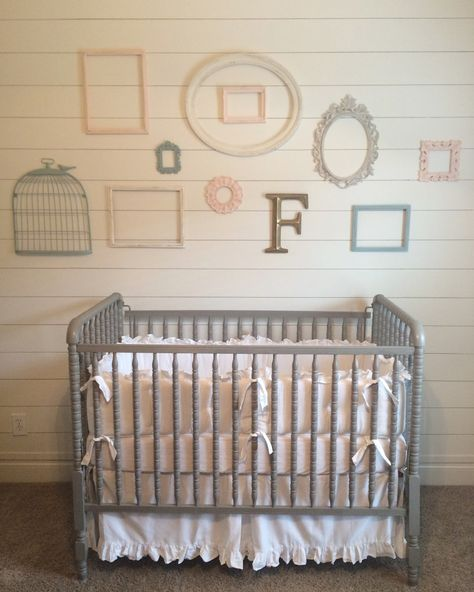 Farmhouse Chic Nursery - love the vintage accents and girly take on this rustic nursery!
