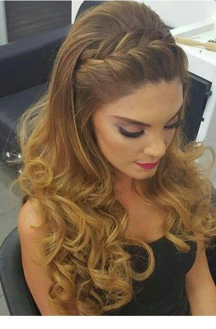 Braid hairstyle and nice makeup  #braid #hairstyle #hairstyles #makeup #Nice