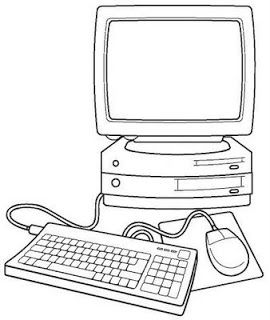 Desenhos De Informatica Computador Para Colorir Pintar