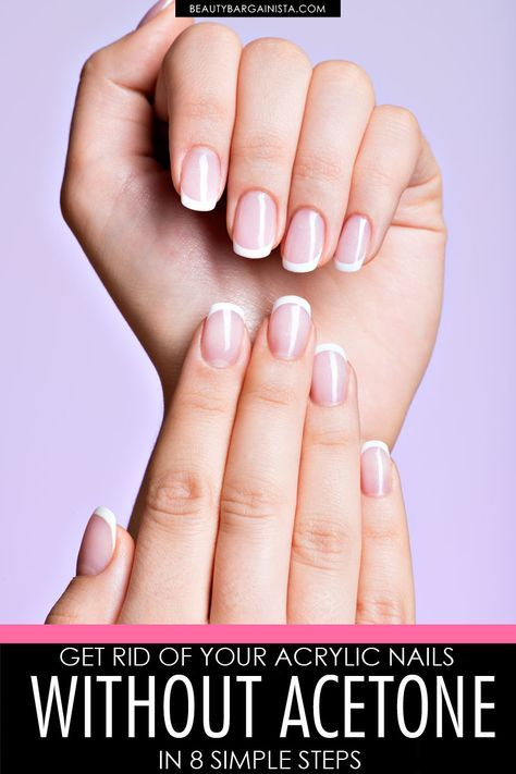 If You Need To Give Your Acrylics A Break You Don T Have To Rip Them Off With Nippers Dip Your Take Off Acrylic Nails Remove Acrylic Nails Acrylic Dip Nails